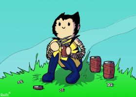 Cute Wolverine by ninja-kitties