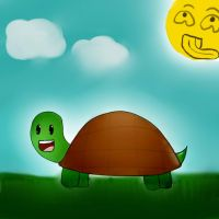 happy turtle is happy by dannieANJELL