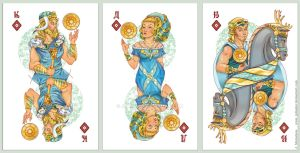 playing card - diamonds by JuliaMyr