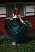 STOCK green gothic gown II by MyladyTane