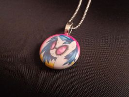 1in My little pony necklace charm (Vinyl Scratch) by MermaidSoupButtons