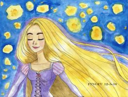 Tangled in watercolor by Poisonisnotgoodforu