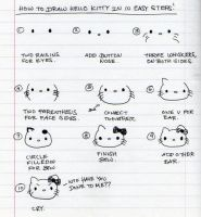 How to draw Hello Kitty by ilovegravy