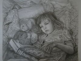 A Girl with a book by Yakhovskaya