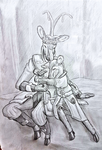 Ceripy father and fawn2 by Snowfall-The-Cat
