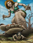 The Deaf Giantess: Angry! by DragonessLife