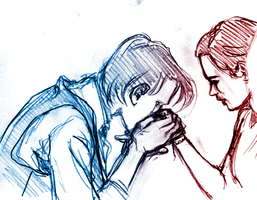 Doctor Who sketchy scene by Tanashi