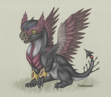 Baby Hawkeye Dragon by Imbecamiel