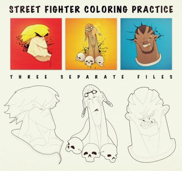 Streetfighter Coloring Practice! by marvelleftw