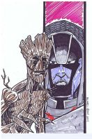 Groot by MichaelOdomArt