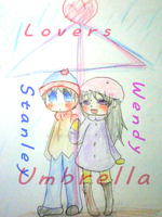 Lovers Umbrella by MakotoZhen
