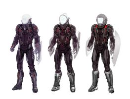 Zone of the Enders inspired suits by Flaskpost