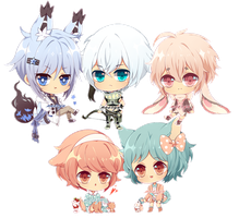 Mini chibis batch by Naoryu
