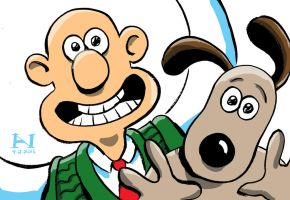 Wallace and Gromit by IanJMiller