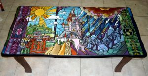 Beauty and the Beast coffee table :)) by WormholePaintings