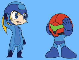 Let's Trade! Samus and Megaman! by ViralDrone