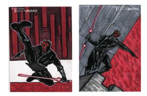 darth maul cards by TomKellyART