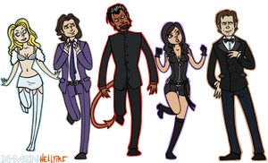 X-Men: Hellfire Club by sparkyHERO