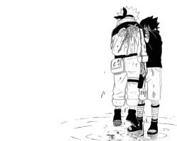 Naruto, Sasuke by Hand-Drawn