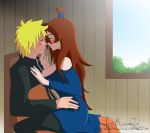 Naruto and Mei - Almost kiss by BloodyRiley
