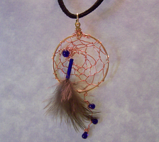 Cobalt Dreamcatcher by mymysticgems