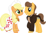 Pony Wedding Commission: Applejack x Caramel by Mokrosuhibrijac