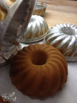 Sponge cakes - right out of mold by Gwendelyn