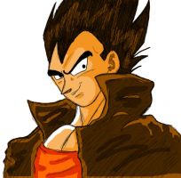 Vegeta_End of DBZ_Colored by VegetasLittleLover