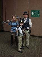 Steampunk Family by Lillagon