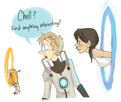 Portal 2: Found something Interesting by muminika