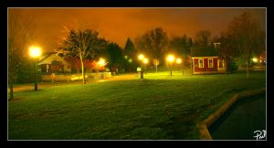The park at dusk by pril