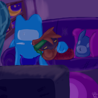 Blu and Splat's alone time by dreamer-the-wolf-3