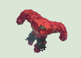 Red Hulk by AlexRedfish