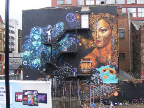 4 elements Manchester mural by n4t4