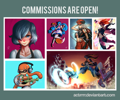 Commissions are open! by actrrrr