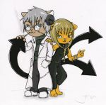 SoulEater Cats - Color wip by LordGuardian