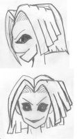 Girl Expressions by joshdamnit