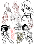 sketch dump 7 by Kitty-Can-Draw