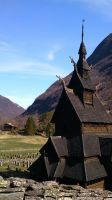 old Norwegian church by omegaptera