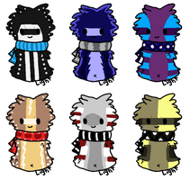 Even more Scarfblob adoptables by GreatestAllie