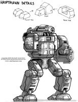 MechWarrior 4 hauptmann Back by Mecha-Zone