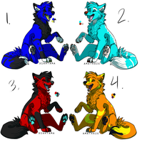 Mystery Wolf Adopt Batch 2 -SOLD- by DemoniaTheGuardian