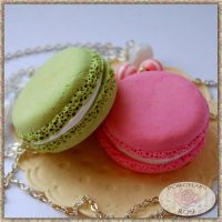 MACARON NECKLACES by theporcelainrose