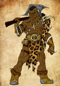 Amtgard Barbarian by mackrafty