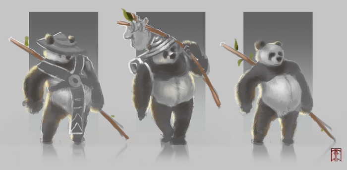 Panda quick character sketch by VLevente