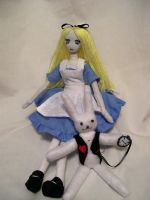 Alice and the white rabbit by dollmaker88