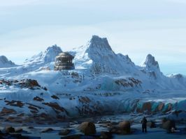 Antarctic base by jjpeabody