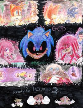 Sonic.EXE: Collage by 5courgesbestbuddy