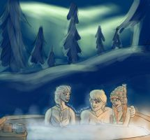 Frozen - Hottubbin in the Snow by northernwatertribe