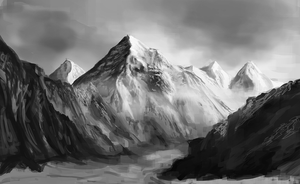 Mountain Range by KikiTheMonkey